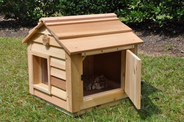 "20"" Cat House with optional open clean-out door"