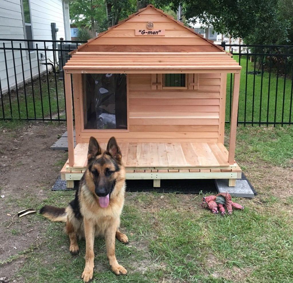 Custom Cedar Dog House