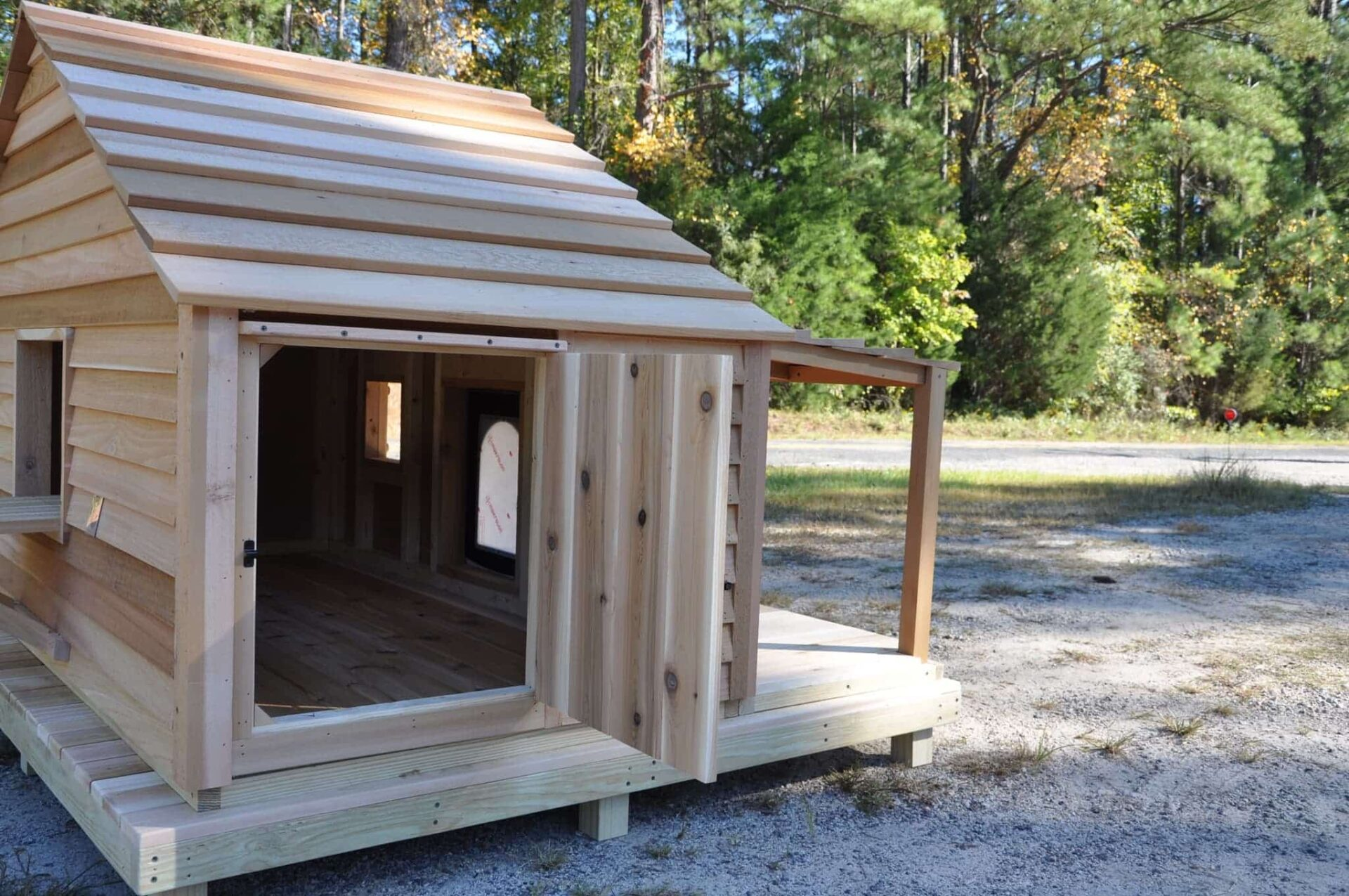 Large Dog House Custom Cedar Dog House