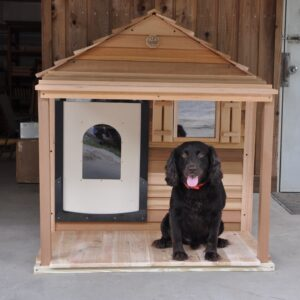 extra large dog house with porch and dech