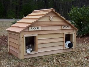 Duplex Cat house with optional name plates