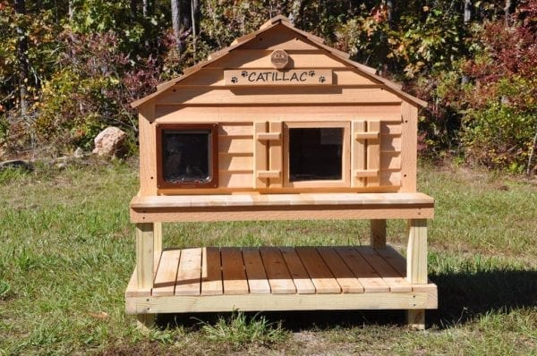 Catillac cat house on Platform and Raised Foundation
