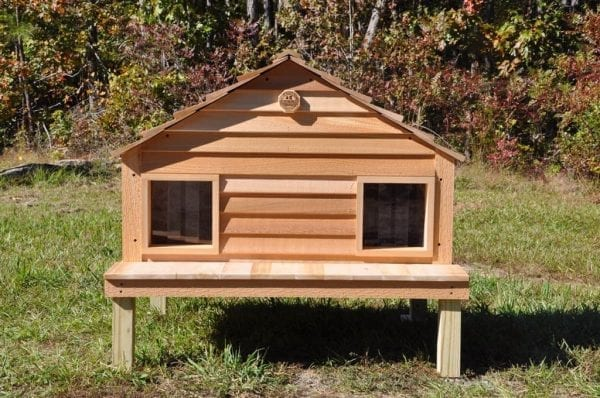 Duplex Cat house with optional platform
