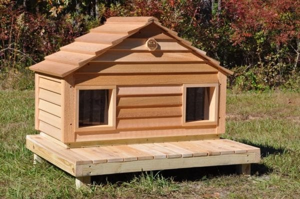 Duplex Cat house with optional Raised Foundation