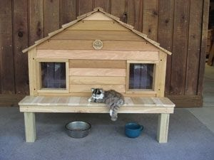 cat house with optional platform