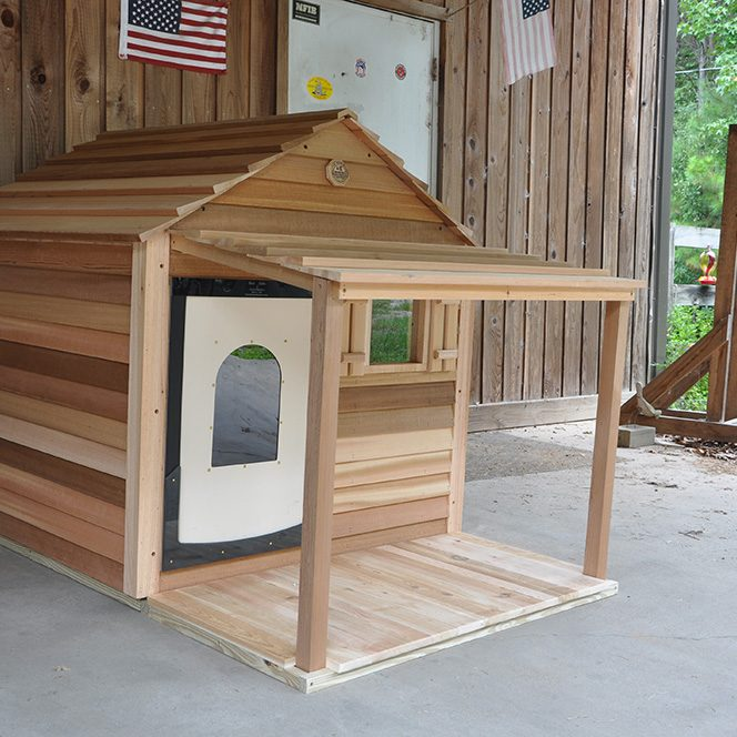 dog house with extra-large porch and deck